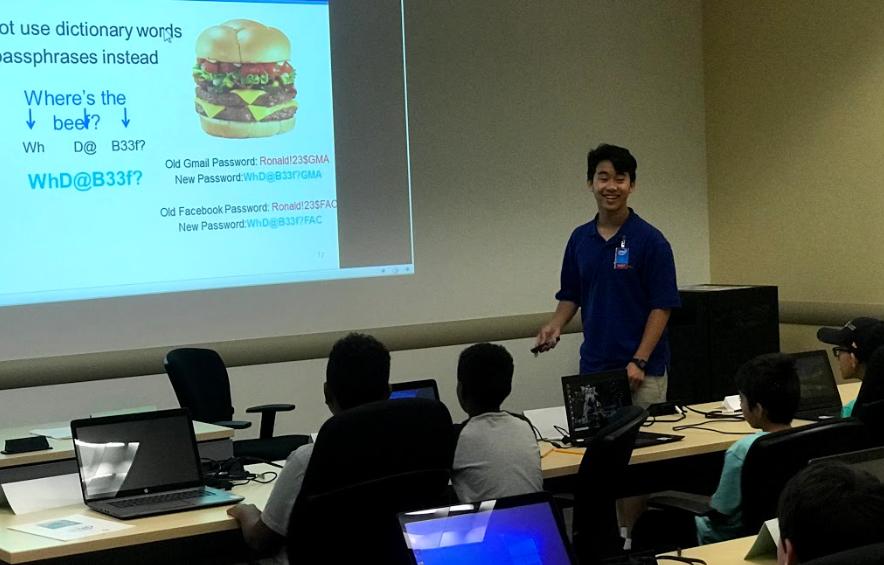 Teaching at Intel Cyber Camp
