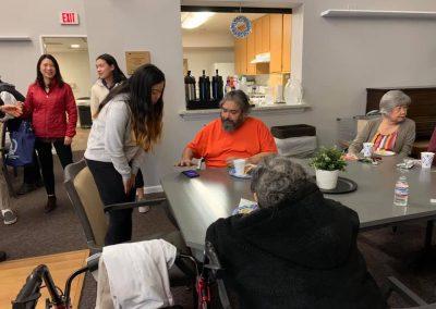 Volunteering at a senior facility