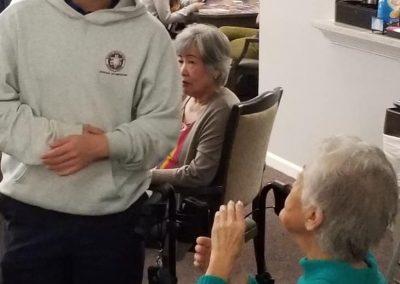 Volunteer at Senior Facility