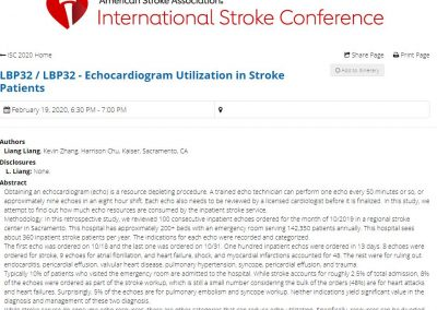 Stroke Abstract